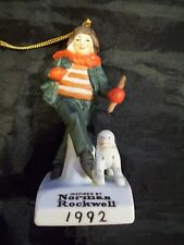 1992 Norman Rockwell Ornament Saturday Evening Post On The Ice No Box Nice!