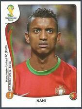PANINI WORLD CUP 2014- #521-PORTUGAL & MANCHESTER UNITED-NANI