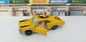 Rare Vintage Yat Ming Yatming Chevrolet Chevelle 1074 -Yellow Skull - Open Doors