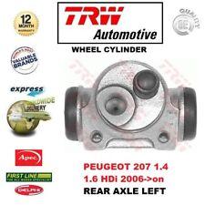 Für Peugeot 207 1.4 1.6 Hdi 2006- > nach 1x Ha Links Radbremszylinder
