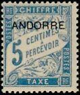 """ANDORRE FRANCAIS STAMP TIMBRE TAXE N° 1 """" TIMBRE DE 1893 5c """" NEUF xx LUXE"""