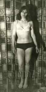 1970s Soviet Pretty Young Woman Bare Figure Lingerie Posing odd Russian photo