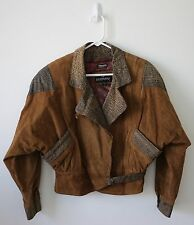Bermans Vintage Women's Leather Bomber Jacket Light Brown Size SMALL EUC