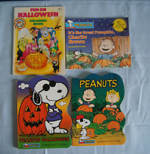 4 Halloween coloring activity books 35th anniversary Great Pumpkin Peanuts