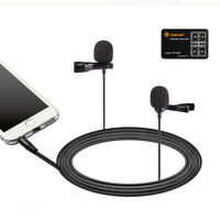 BOYA BY-LM400 Dual Head Condenser Lavalier Microphone for for Smartphone Hot