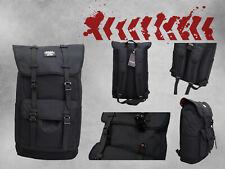 Reisetasche Unisex Rucksack groß Handtasche DINA4 Tragetasche Schwarz