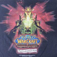 WOW World Of Warcraft XL Black Blizzard Ent 2007 Battlegrounds T-shirt