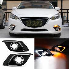 Car LED DRL Daytime Running Light Fog Driving Lamp for Mazda 3 Axela 2014-2016