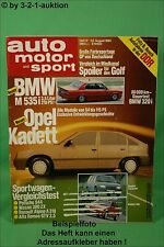 AMS Auto Motor Sport 17/84 BMW M 535i Renault Alpine A 310 S Camaro Z28