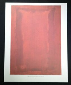 """Mark Rothko, Beautiful Hand Signed Lithograph """"Untitled"""" (red), with COA"""