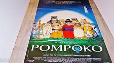POMPOKO  !  affiche manga , japon bd dessin isao takahata