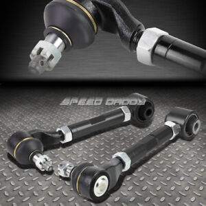 FOR 03-07 ACCORD/TSX UC1 BLACK ADJUSTABLE BALL JOINT REAR SUSPENSION CAMBER KIT