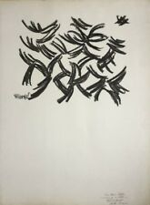Robert HELMAN 1910-1990.Composition abstr.1958.Lithographie.SBG.Dédicacé.75x56