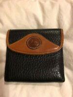 "Vintage Dooney Bourke Pebble  Leather  Wallet  Black  4.5""  by  4.5"""