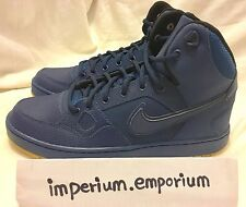 Nike Son of Force Mid Winter Blue/Gum Hi-Top Trainers Size UK 8 (807242 400)