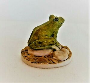 Peter Fagan Miniature Frog Figure / Ornament, Hand Painted in Scotland, c.1983