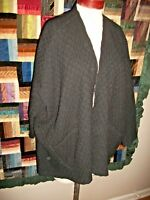BABETTE CASUAL WEAR BLACK WAFFLE TEXTURE WOOL JACKET MEDIUM M