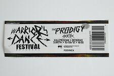THE PRODIGY SKRILLEX WARRIORS DANCE FESTIVAL BELGRADE RARE ORIGINAL TICKET 2012.