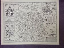 SHROPSHIRE 1610 Map by John Speed  - Uncoloured