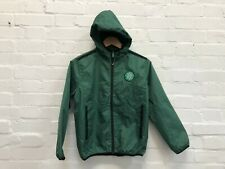 Celtic FC Official Kid's Club Crest Zip Hooded Jacket - 10-11 Years - Green -New