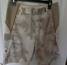 Mossimo Swim Trunk Board Shorts Camo Tan  sz 30