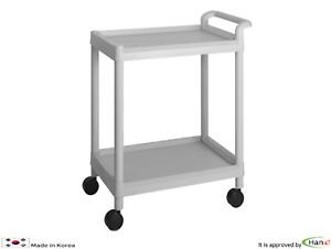 Utility Cart Trolley Organizer Storage 2Shelf Tier Wagon Rolling Salon Spa D201A