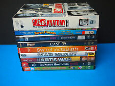 Lot of 9 mixed DVD LOT GREYS ANATOMY CASE 39 SWITCHED AT BIRTH