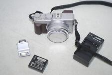Panasonic LUMIX DMC-LX100 12.8MP Digital 4K Camera 24-75mm Leica -Silver & Brown