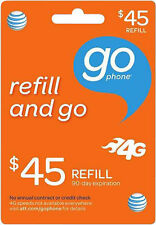 AT&T Go Phone $45 Refill Add Directly To Your Phone Number