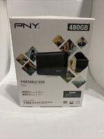 Brand New & Sealed PNY Elite 480GB Portable USB 3.1 SSD External Thumb Drive