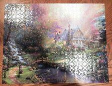 Thomas Kinkade 500pc Country Cottage Jigsaw Puzzle NO BOX