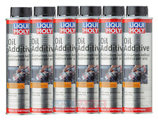 6 X Liqui Moly Engine Oil Additive MoS2 300ml Fuel Friction Reducer Protection