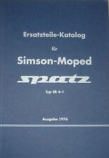 Ersatzteile-Katalog Ersatzteilliste Simson Moped SPATZ Typ SR 4-1 Vogelserie NEU