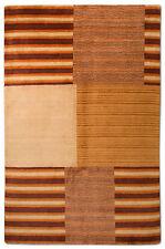 GABBEH Tapis 237x154cm patchwork design laine avec soie fait main