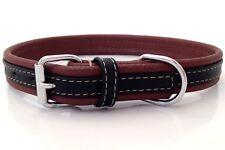 Nuevo Hecho a Mano Marrón/Negro de Cuero Suave Collar de perro de entrenamiento fuerte Collie medio