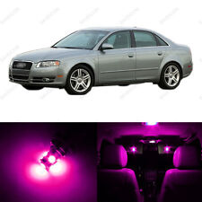 19 x Pink/Purple LED Interior Light Package For 2002 - 2008 Audi A4 Sedan Only