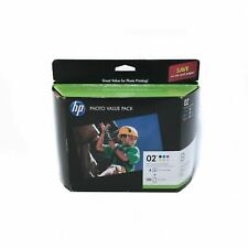 HP 02 Custom Ink Cartridges Photo Value Pack 6 Ink Cartridges & 150 Photo Sheets
