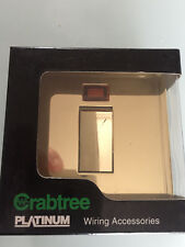 New Crabtree Platinum Polished Brass DP 45A switch