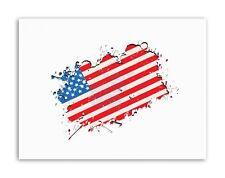 USA Bandiera Americana Grunge FOTO POSTER FOTO STAMPE SU TELA ART