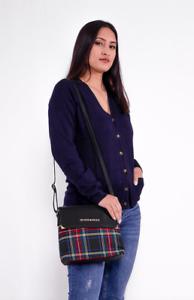 Ladies Tartan Check Maria Snap Flap Closure Crossbody Bag 4 colours by Inverness