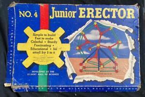 Vintage 1949 The A.C. Gilbert Co. Jr. Erector Set No.4 With Box