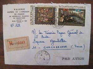 1973 Mauritania flight FRANCE cover Air Mail CARCASSONNE Par Avion PA