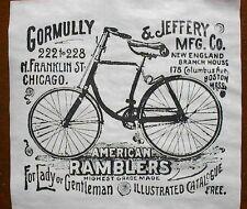 "(699) VINTAGE REPRINT ADVERT AMERICAN RAMBLERS BICYCLES BOSTON CHICAGO 11""x12"""