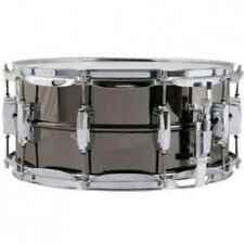 "Ludwig *GRATISVERSAND* 6.5"" x 14"" Black Beauty Brass Supra Phon Snare Drum LB417"