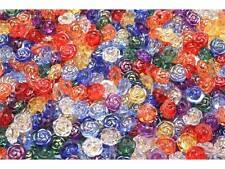 40 Stück Kinderknöpfe Knöpfe Rosen Patchwork 12,5mm #8001