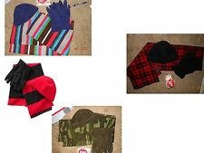 NWT OLD NAVY MENS 3 PC FLEECE SET SCARF,  BEANIE,  AND HAT 4 COLOR CHOICES