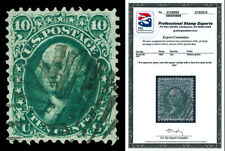 Scott 96 var. 1868 10c Washington F-Grill Used VF Cat $260 with PSE CERTIFICATE!