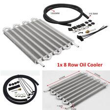 8 Rows Aluminum Remote Transmission Oil Cooler Cooling System Radiator Converter