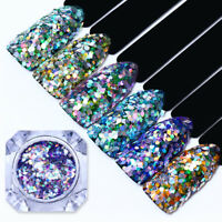 Holographic Nail Glitter Sequins Hexagon Rhombus Iridescent Flakies BORN PRETTY