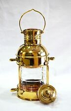 Vintage Brass Cargo Ship Railroad Oil Kerosene Burner Lantern Lamp Home Decor